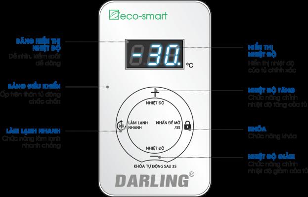 Tủ đôngSMART FREEZER Darling DMF-3699WS-2