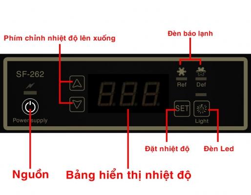 cách điều chỉnh nhiệt độ tủ mát