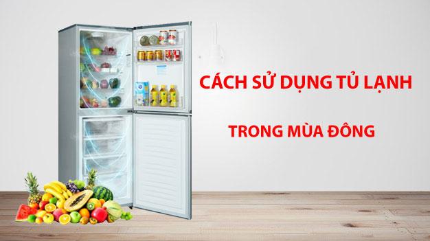 sử dụng tủ lạnh trong mùa đông