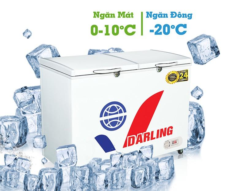 Tủ đông Darling DMF-2809WX - dàn lạnh đồng - 280L